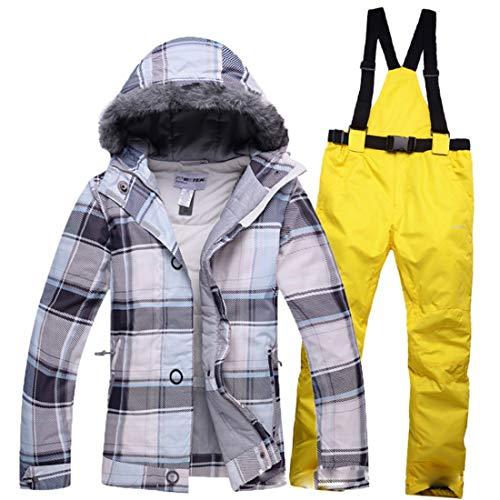 Kerr Louisa Damen Winter Outdoor-Warm Wasserdicht Atmungs Ski Jacke und Hose Set Wintermäntel (Farbe : 05, Size : M)