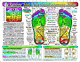 Rainbow FOOT Reflexology/ Acupressure Massage CHART by Inner Light Resources, 8.5 x 11 in; 2-sided (Small Poster/ Large Card) detox products Dec, 2020