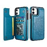 UEEBAI Case for iPhone 12 mini 5.4 inch, Luxury PU Leather
