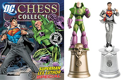 DC Comics - Figuras de Ajedrez de Resina DC Comics Chess Collection Especial Clark Kent & Lex Luthor