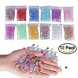 MyCreator Fischschalen-Perlen, für selbstgemachte knusprige Schleim, Kunststoff, durchsichtige...