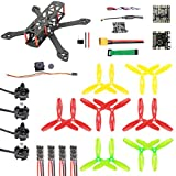 QWinOut 220mm DIY FPV Racing Drone Carbon Fiber Quadcopter Set with F3 FC 2300kv Motor 20A ESC 5.8G 40CH OSD VTX 700TVL PAL/NTSC FPV Camera (PNP Version)