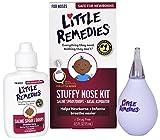 Little Remedies Stuffy Nose Kit, Saline Spray & Aspirator, 0.5 oz, Pack of 4