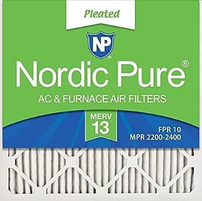 Nordic Pure 20x20x1 MERV 10 AC Furnace Air Filter