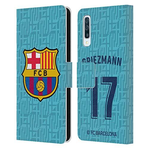 Head Case Designs Offizielle FC Barcelona Antoine Griezmann 2019/20 Spieler Third Kit Gruppe 1 Leder Brieftaschen Huelle kompatibel mit Samsung Galaxy A50/A30s (2019)