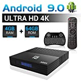 A95X F2 Android 9.0 TV Box 【4 GB RAM 64 GB ROM】 Android Box con Amlogic Quad-core A53 (S905X2) Dual WiFi/USB 3.0/BT 4.2/4K 3D HD con tastiera