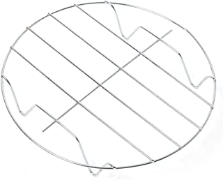 Soporte de estante al vapor Utensilios de cocina Horneado de plata Bandeja para ollas anti-escaldado Enfriamiento redondo de acero inoxidable