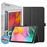 Samsung Galaxy T290 Tab A 8-Inch 32 GB WiFi Android 9.0 Touchscreen Tablet Silver (2019) International Version Bundle - Case, Screen Protector, Stylus, 32GB microSD Card & Mobile Deals Cleaning Cloth