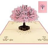 Biglietto di auguri tridimensionale fiore di ciliegio-Cherry Blossom