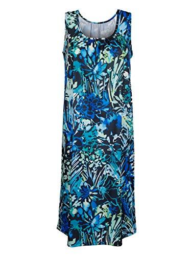 Schwab Bademoden Strandkleid blau/grün/schwarz