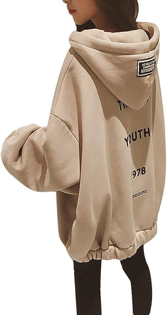 AODONG Sweatshirt for Women,Women's Hoodies Casual Loose Zip up Hoodies Sweatshirt Outerwear Jacket Tunic Coat