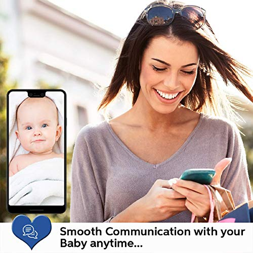 Wi-Fi Baby Camera Monitor, Two-Way Audio Baby Monitor, Camera and Video, Night Vision, Compatible with Alexa and Phone App, Laxihub M1