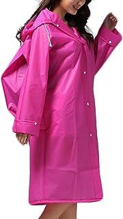 Eva De Las Mujeres De Peso Ligero Impermeable Mochila Cubierta Rainwear Packaway Color Sólido Equipo para La Lluvia para A...