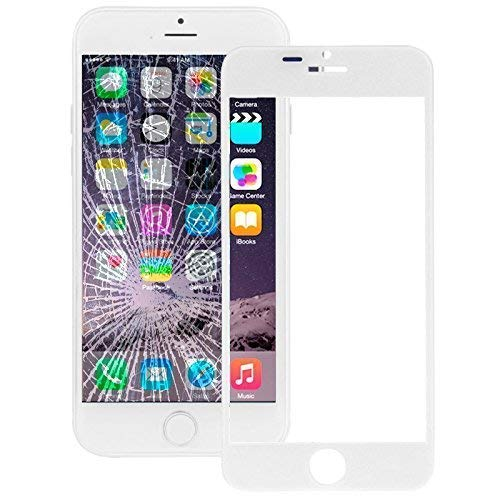 Displayglas Ersatzglas Scheibe Frontglas für Apple iPhone 6 Plus Front Glass Panel Scheibe Display Glas weiß