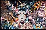 TWYYDP Puzzle Adulto 1000 Piezas Geisha Japonesa Pintura Art Deco Casera