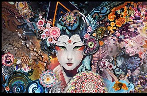 Puzzle Adulto 1000 Piezas Geisha Japonesa Pintura Art Deco Casera