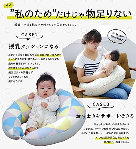 サンデシカ妊婦さんのための洗える抱き枕ポリエステル綿【日本製】メモリアルスターM4251-8888-52