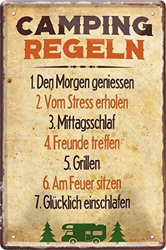 Cartel de chapa 2258 con texto en alemán
