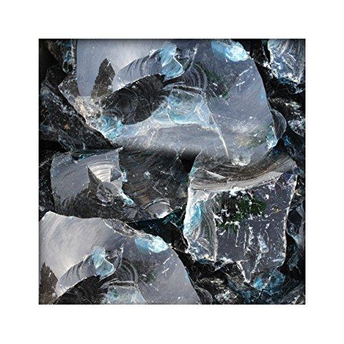50 kg Glasbrocken Glasbruch Glassteine Glas Gabione Deko Farbe Ligth Blue