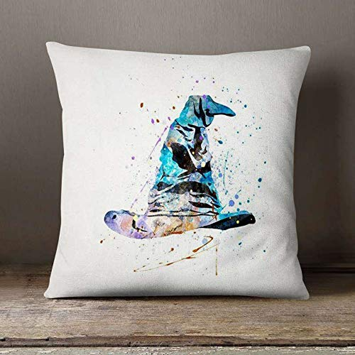 Anime Snape watercolor illustrations, decorative cushions for home decoration, thin linen pillowcases for sofa cushions