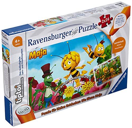 Ravensburger tiptoi Spiel 00047 Puzzle für kleine Entdecker: Die Biene Maja - 2x24 Teile Kinderpuzzle ab 4 Jahren, für Jungen und Mädchen, 1 Spieler