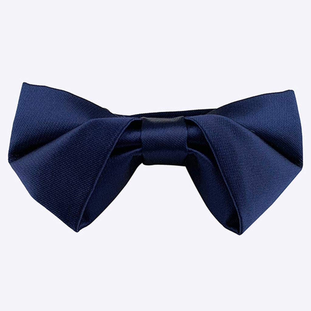 GPPZM Black Bow Tie Male Solid Color Marriage Bow Ties for Men Candy Color Butterfly Cravat Two Tone Bowtie Butterflies (Color : Blue)