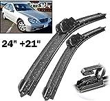 ZHAOHAOSC Essuie-Glaces Avant, pour Mercedes-Benz Classe C W203 2000-2003 Pare-Brise Pare-Brise Fenêtre Avant Crochet 24 + 21 U