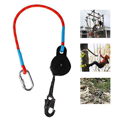 YDDHQ Höhensicherungsgerät, Fallschutzausrüstungen für Luftarbeiten, Fallschutz-Set mit Absturzsicherung Seil und Stahlhaken, Robust und Sicher, Klettergurt Baumpflege