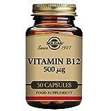 Solgar Vitamine B12 Cyanocobalamine 50 Gélules 500 µg