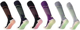 KONLOO, Calcetines De Fútbol para Hombres Toalla Antideslizante para Hombres En El Tubo Entrenamiento para Adultos Baloncesto Entrenamiento De Fútbol Calcetines Deportivos De Doble Uso (6 Piezas)