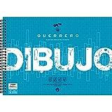 Unipapel Blocks 37002499. Block de Dibujo con Recuadro, Guerrero, Papel 120 Gramos, Microperforado, 2 Taladros, Certificado FSC, Ahuesado