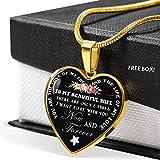 AZ Gifts ラグジュアリーギフト 奥様へのギフト 夫から妻へのノベルティギフト ハートペンダントチェーン 完璧な女性用ジュエリー 18Kゴールドチャーム クリスマスやバレンタインデーへの愛情の証に