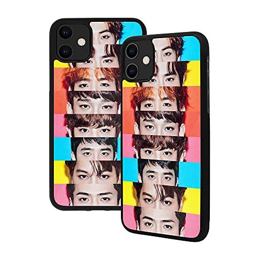 Cover per iPhone 11 Pro Max Celebrity Designs per ragazze, in vetro temperato di alta qualità, con struttura in gomma morbida con impugnatura (iPhone 11 Pro Max, EXO)