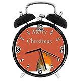 jifyasuo Sveglia Digitale Christmas Robin Snowflakes Adatto per Studio Camera da Letto Uffic
