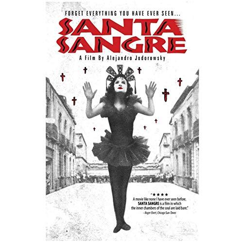 Santa Blood Film Alejandro Jodorowsky EL Topo Heiliges Mountai-Plakat Dekoratives Gemälde für Wohnzimmer Dekor Geschenkdruck auf Leinwand -50x70cm ohne Rahmen