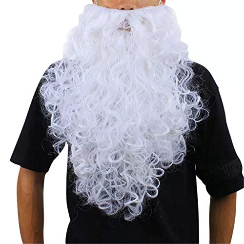 A-cool Funny Costume Party Male Man Halloween & Christmas Beard Facial Hair Disguise Game White Mustache Top Quality (19.7 Inchs)