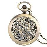 HLJ Kinder-Armbanduhr mit Cartoon-Motiv, genaue Taschenuhr, schöne Elster-Uhren, Halskette für Mädchen, Freunde, Blumengehäuse, feiner Quarz.