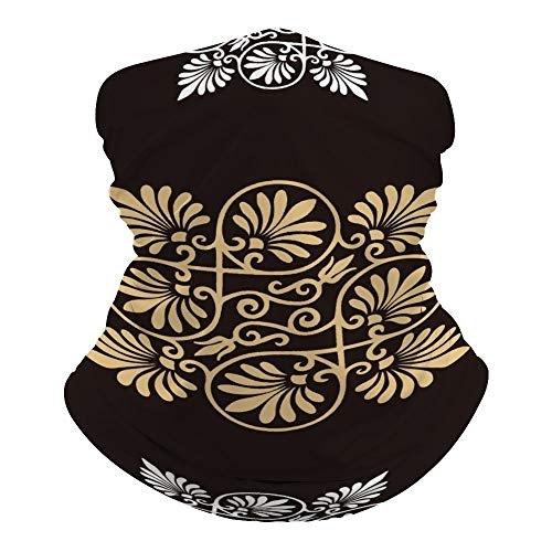 Yilooom Brown Boho Pattern, Seamless Face Mask Bandanas, Unisex Face Scarf for Outdoor Dust Wind Sun Protection