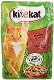 kitekat cibo per gatto con manzo in salsa 100 g - 48 bustine