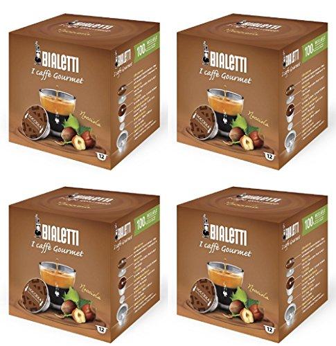 Bialetti Haselnuss Espresso Kapseln, 48 Stück