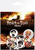 GB Eye LTD, Attack On Titan, Mix, Pack de Chapas...