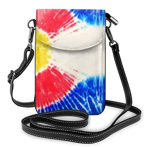 AOOEDM Small Cell Phone Purse Elegante Bandera del Estado de Colorado Tie Dye Monedero para teléfono celular Monedero Bolsillo grande Bolsos cruzados pequeños Correa de hombro ajustable Bolsa para t