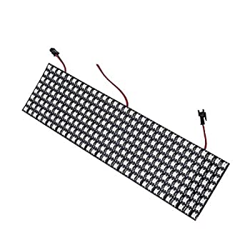 BTF-LIGHTING WS2812B ECO RGB Alloy Wires 5050SMD Individual Addressable 8X32 256 Pixels LED Matrix Flexible FPCB Full Color Works with K-1000C,SP107E,etc Controllers Image Video Text Display DC5V