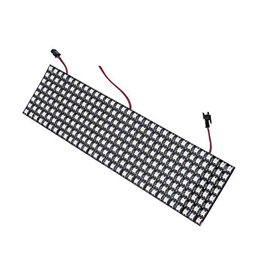BTF-LIGHTING WS2812B Alambres de aleación ECO RGB 5050SMD Direccionable individual 8X32 256 píxeles Matriz de LED FPCB flexible A todo color Funciona con K-1000C, SP107E, etc. DC5V