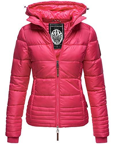 Damen Übergangsjacke Steppjacke Winterjacke gesteppt Outdoorjacke Kapuze 9 Farben XS - XXL Sole (M, Pink)
