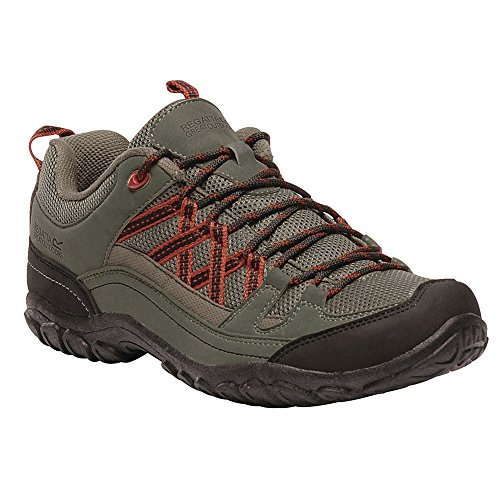 Regatta Edgepoint II Low Rise Hiking Boot, Chaussures de Randonnée Basses Homme, Vert (Ivy Green/Burnt Tikka 368), 40 EU