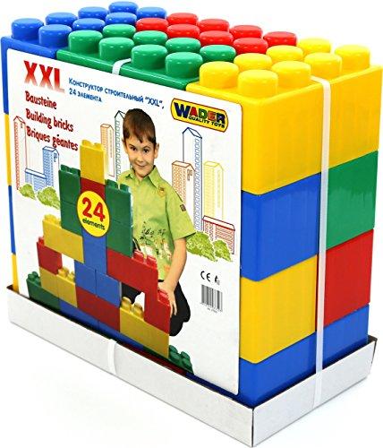 Wader 37503 Bausteinblock XXL, 24 Teile