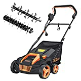 TACKLIFE Scarifier and Lawn Dethatcher, 15-Inch 13 Amp Electric...