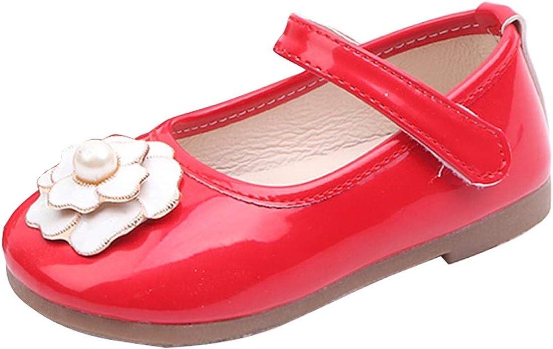 Joeupin Toddler Kids Flower Girls Dress Shoes for Wedding Party Bridesmaid Children Mary Jane Flats