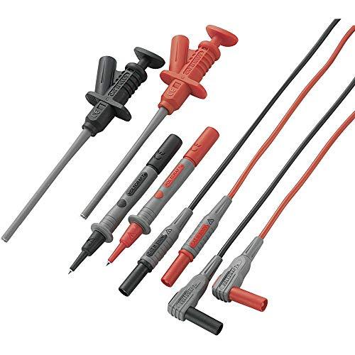Sicherheits-Messleitungs-Set 1.20 m Schwarz, Rot VOLTCRAFT MS-6